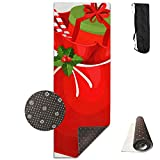 FGRYGF Christmas Eve Pack Yoga Mat - Yoga Matte - Non-Slip Lining - Easy to Clean - Latex-Free - Lightweight and Durable - Long 180 Width 61cm